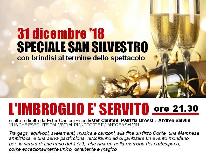 31 dicembre al Teatro Pezzani:  spettacolo e brindisi