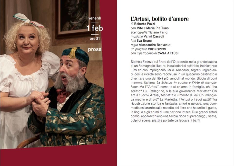 L'Artusi bollito d'amore al Teatro Verdi di Busseto