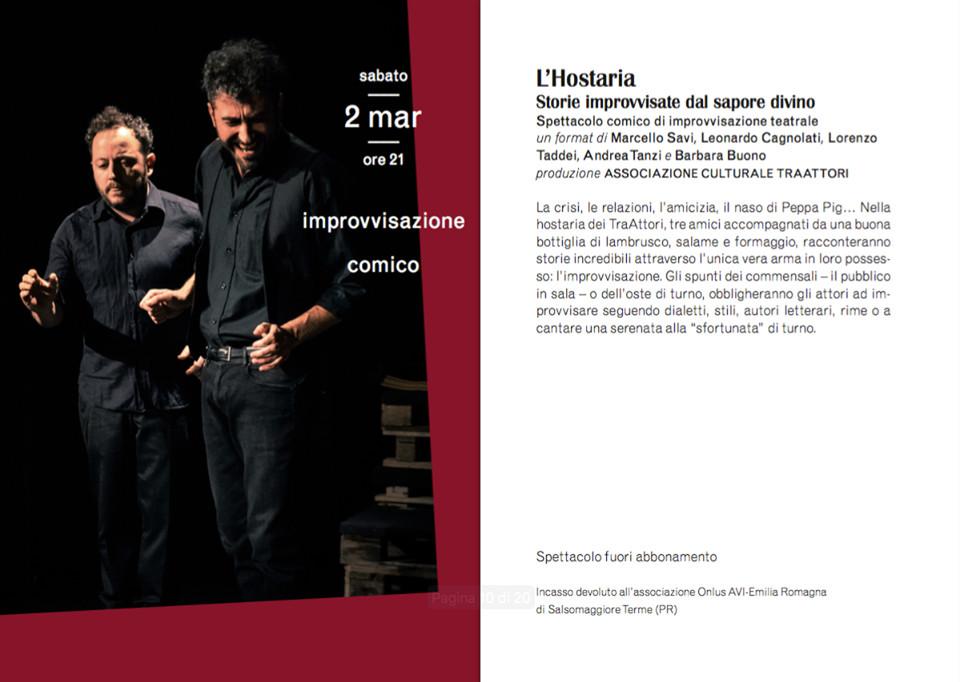 """L'Hostaria"" al Teatro Verdi di Busseto"