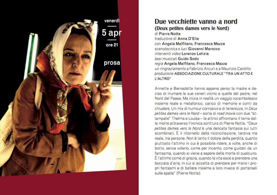 """""""Due vecchiette vanno a nord"""" al Teatro Verdi di Busseto"""