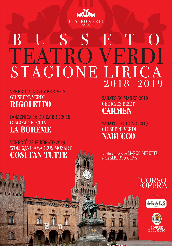 STAGIONE LIRICA AL TEATRO VERDI DI BUSSETO 2018 – 2019