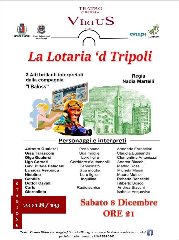 La lotaria 'd Tripoli al  Cinema Teatro Virtus di Sorbolo