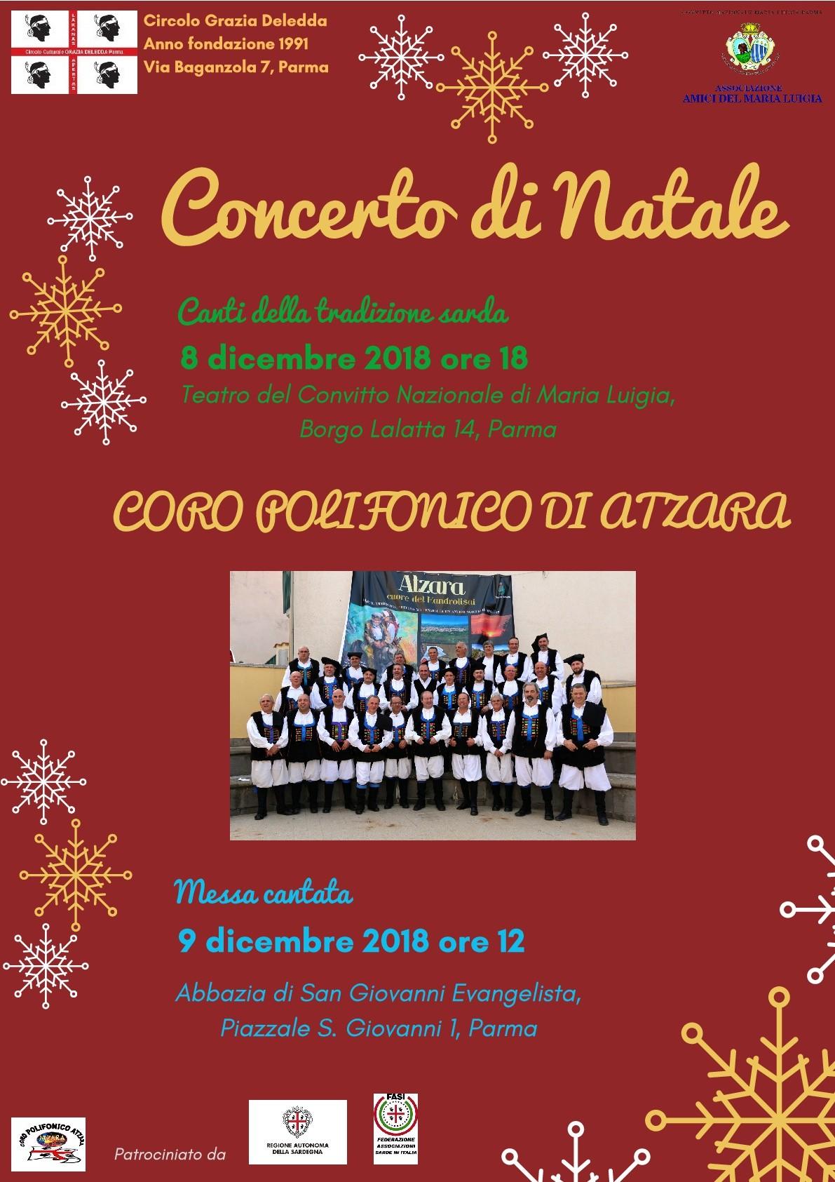 """Concerto di Natale organizzato dal Circolo """"Grazia Deledda"""""""