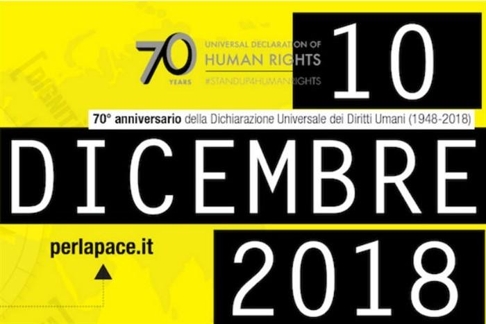 10 dicembre 2018. Il Comune di Parma per la Giornata Mondiale d'azione per i diritti umani.