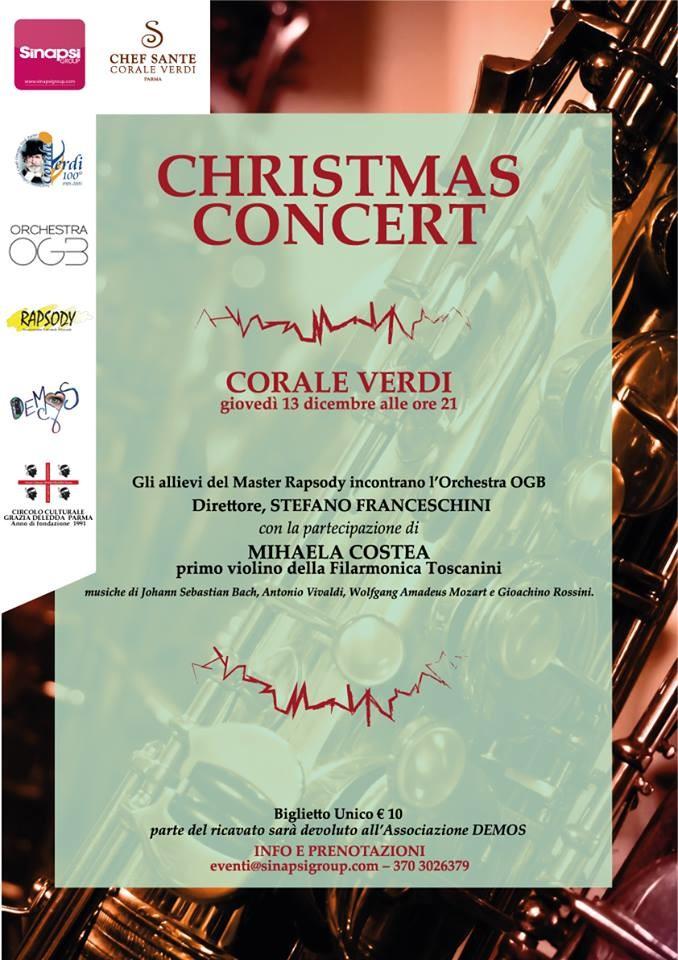 Concerto  natalizio  presso la Corale Verdi
