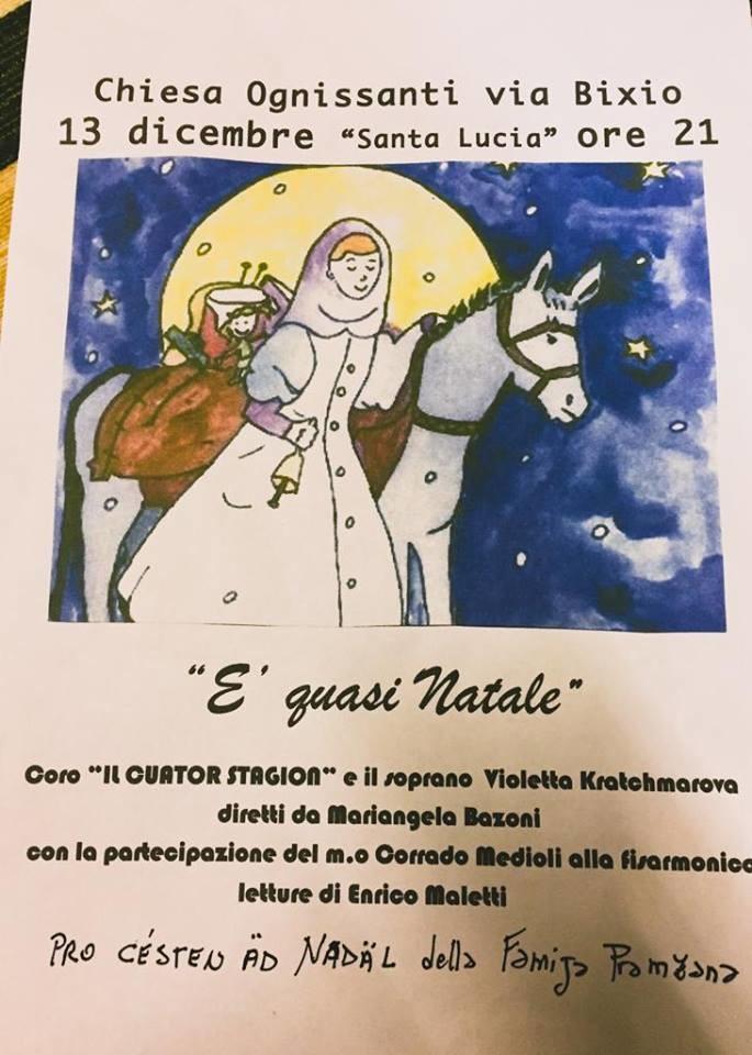 """""""E' quasi Natale"""" concerto nella chiesa di Ognissanti"""