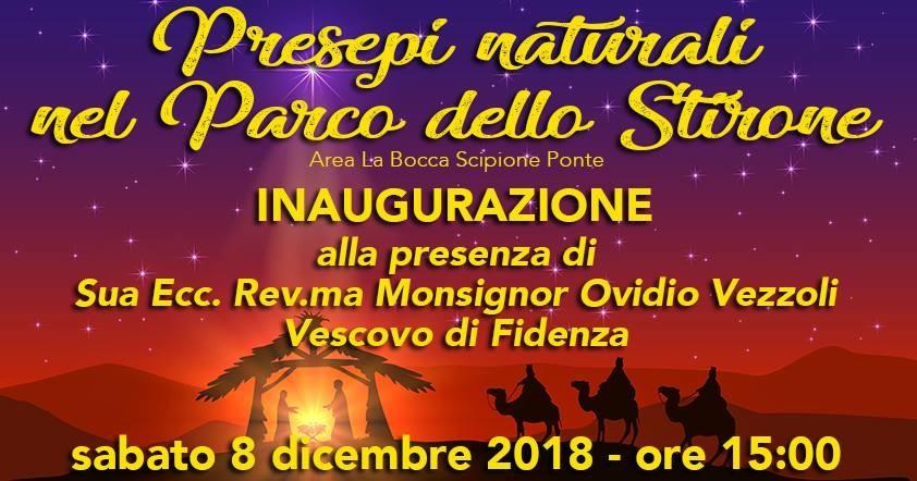 Inaugurazione Presepi Naturali nel Parco dello Stirone alla presenza del Vescovo