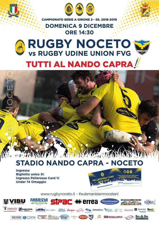 SERIE A Rugby Noceto F.C.vs Rugby Udine Union FVG