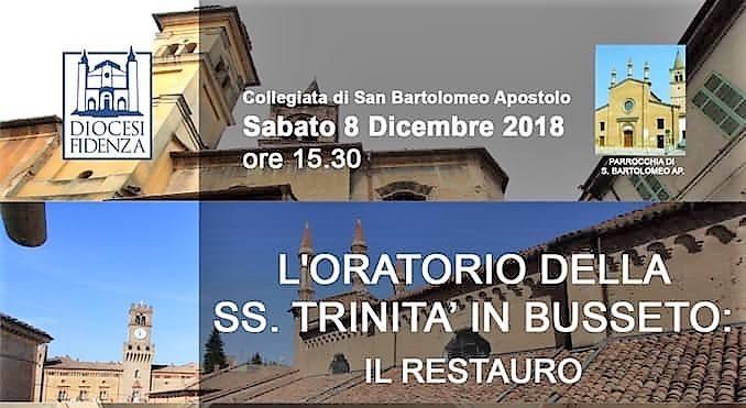 """Presentazione del """"Restauro dell'Oratorio della SS. Trinità in Busseto"""""""