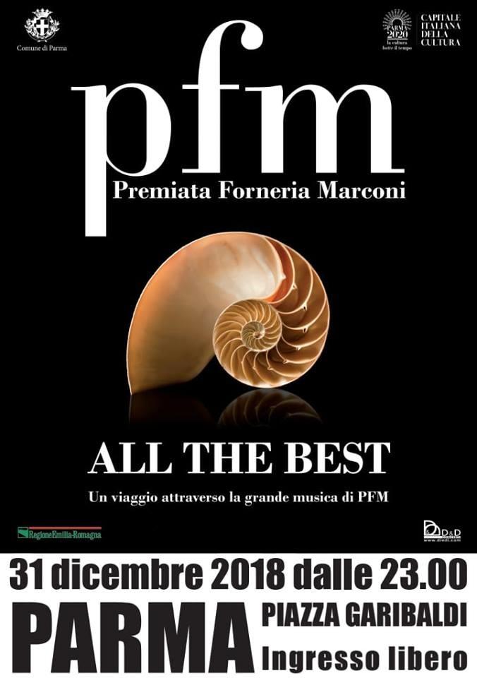 Concerto in piazza Garibaldi della PFM per festeggiare il nuovo anno