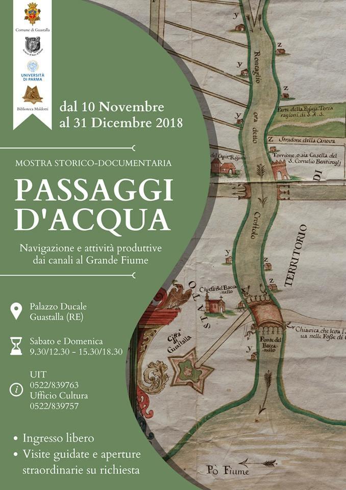 """Mostra storico-documentaria """"PASSAGGI D'ACQUA""""  a Guastalla"""