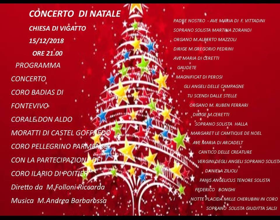 Concerto di Natale nella chiesa di Vigatto