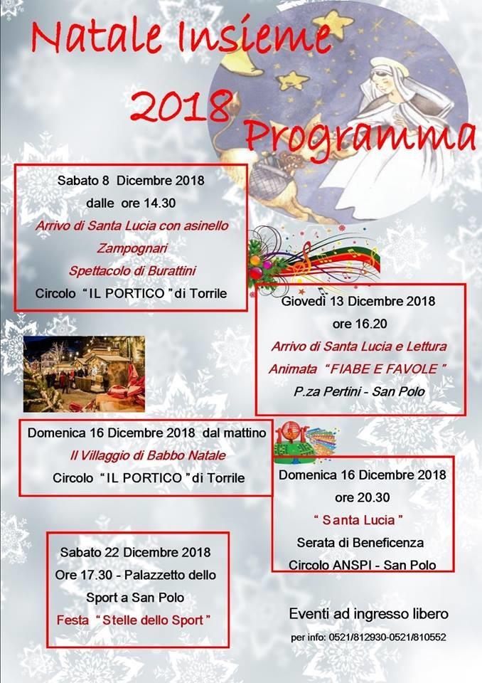 Natale insieme a Torrile, programma