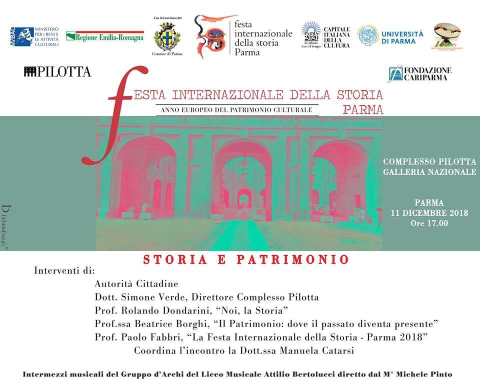 Chiusura della Festa Internazionale della Storia-Parma 2018 alla Galleria Nazionale
