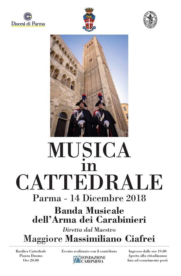 MUSICA IN CATTEDRALE A PARMA con la Banda musicale dell'ARMA DEI CARABINIERI