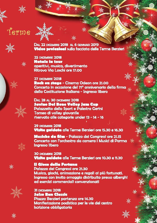 Natale e Capodanno a Salsomaggiore Terme programma dal 22 dicembre al 6 gennaio