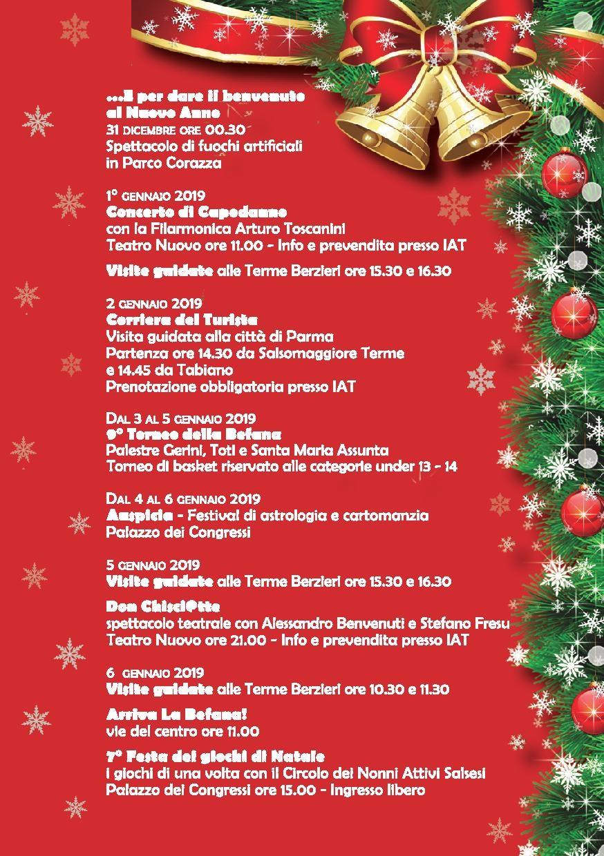 Natale e Capodanno a Salsomaggiore Terme programma dal 1° al 6 gennaio