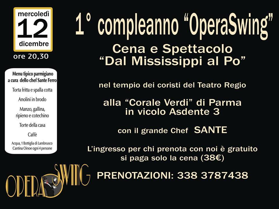 1° compleanno Opera Swing al ristorante Corale Verdi
