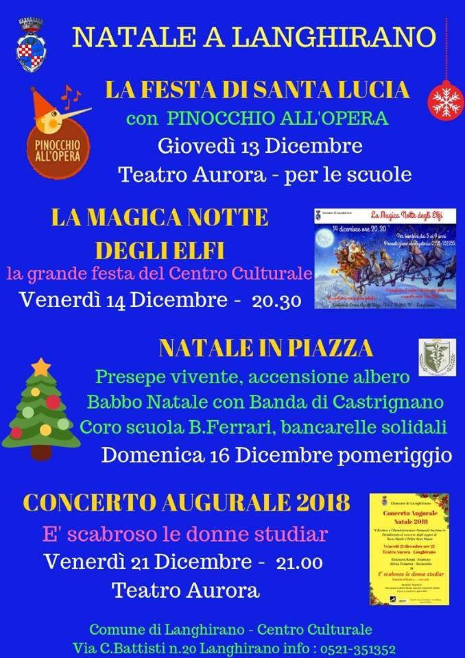 La Magica Notte degli Elfi a Langhirano, festa di Natale per bambini