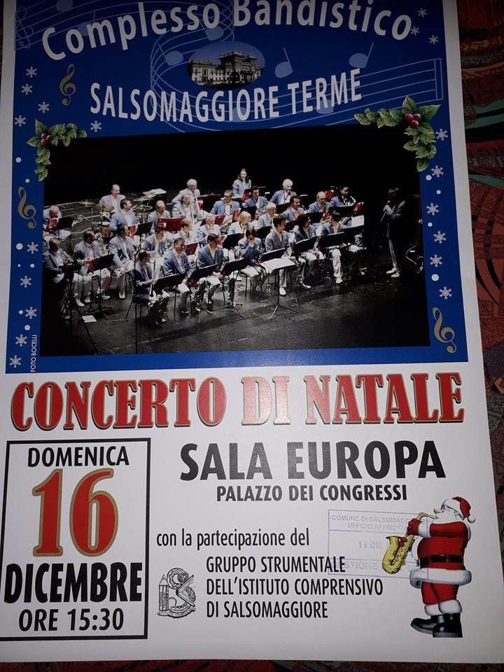 """Concerto di Natale del Complesso Bandistico """"Città di Salsomaggiore Terme"""""""