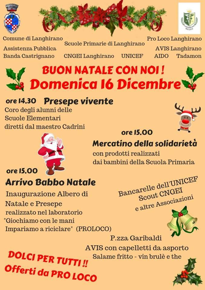 """A Langhirano """"Buon Natale con noi!"""""""