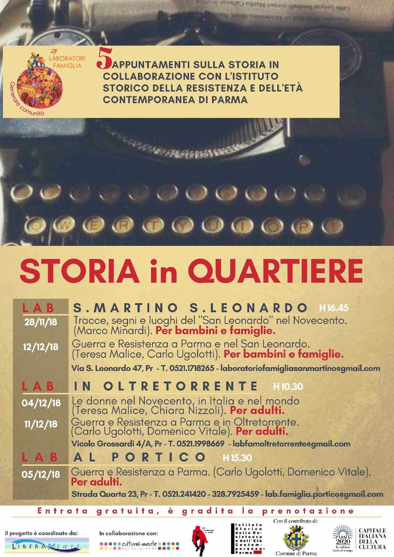 STORIA IN QUARTIERE: Guerra e Resistenza a Parma e nel San Leonardo
