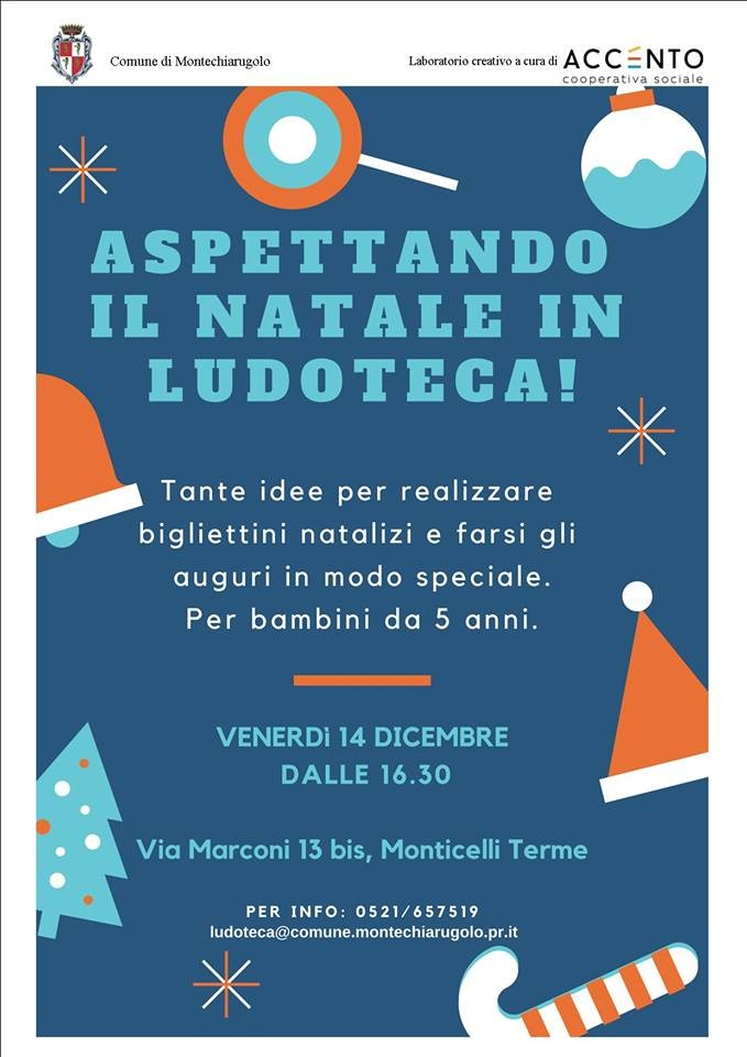 LABORATORIO DI NATALE in Ludoteca a Monticelli