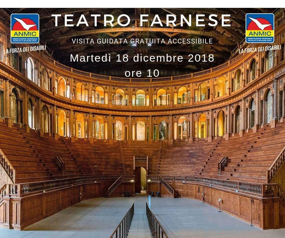 Visita guidata gratuita al Teatro Farnese, accessibile alle persone in carrozzina