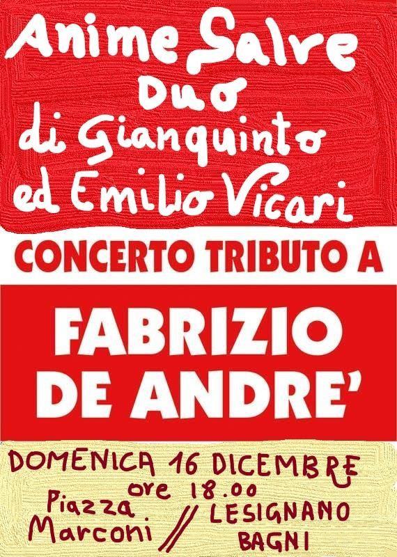 Anime Salve Duo - Concerto Tributo a Fabrizio De Andre