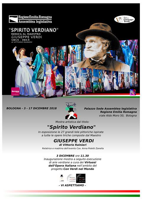 """""""SPIRITO VERDIANO""""personale dell'artista parmense Vittorio Rainieri"""