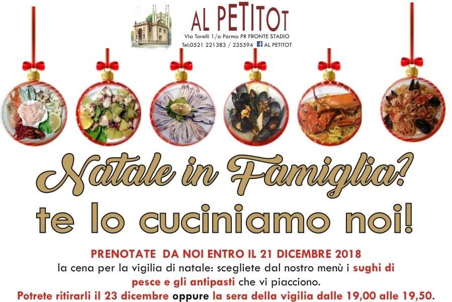 Natale in famiglia, cucina il PETITOT
