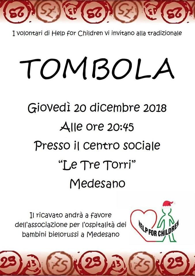 Tombola benefica a Medesano