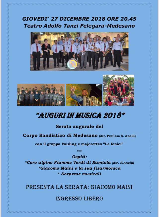 Auguri in musica a Felegara