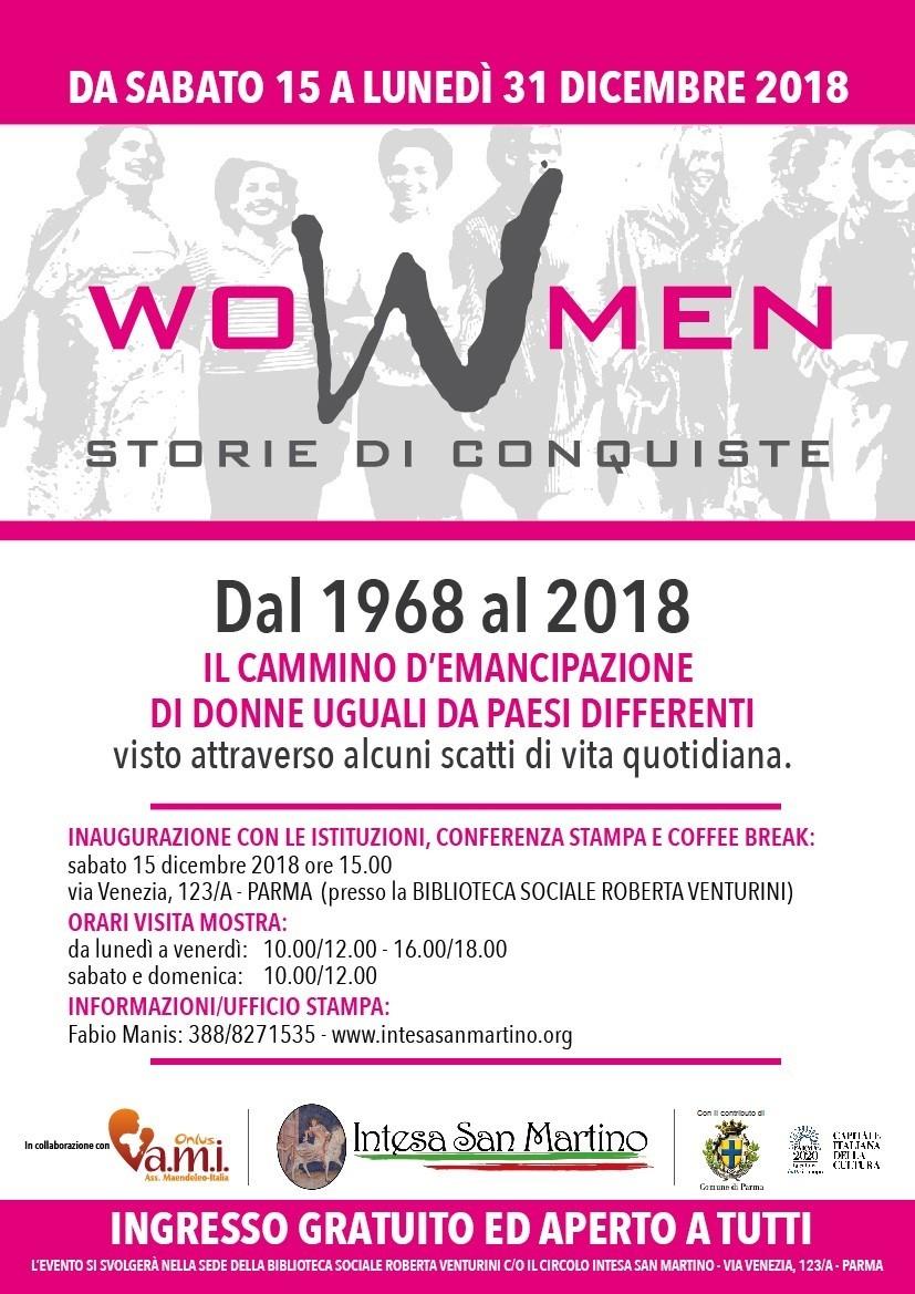 """Mostra """"Women - storie di conquiste"""""""