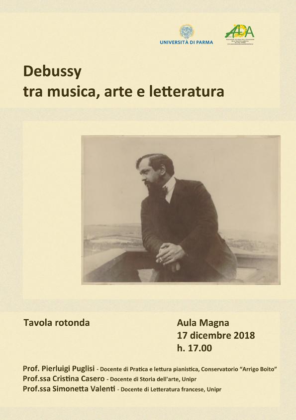 """Conferenza-concerto """"Debussy tra musica, arte e  letteratura"""""""