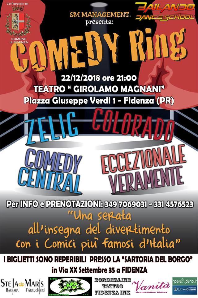 """""""Comedy ring"""" con i comici di Zelig e Colorado  al Teatro Magnani"""