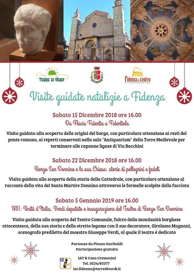Visite guidate natalizie a Fidenza