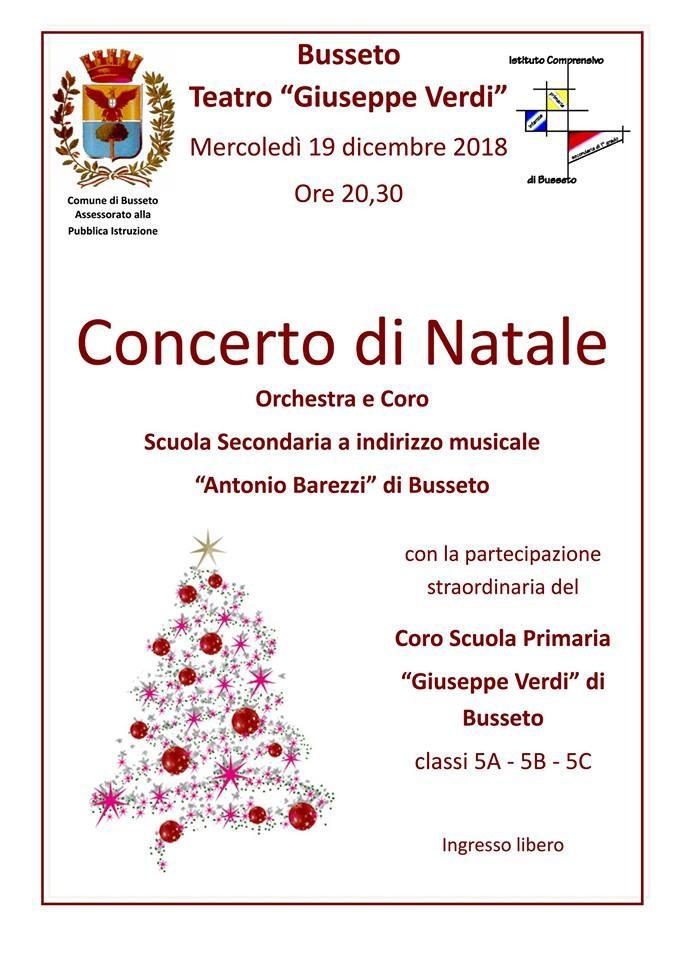 Concerto di Natale al teatro Verdi di Busseto