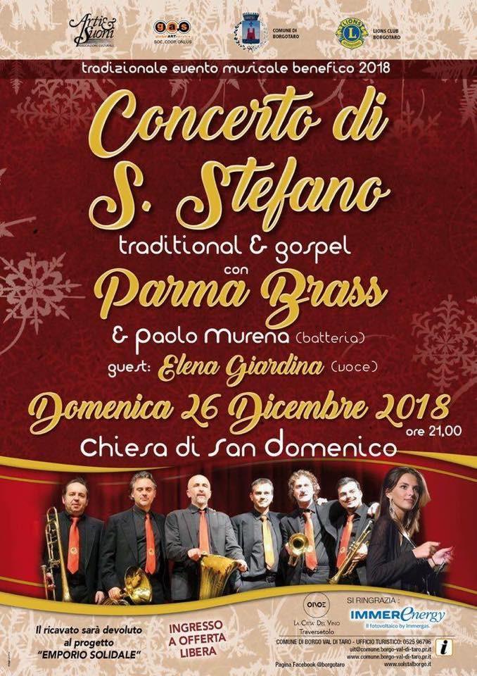Concerto di Santo Sfefano con i Parma Brass
