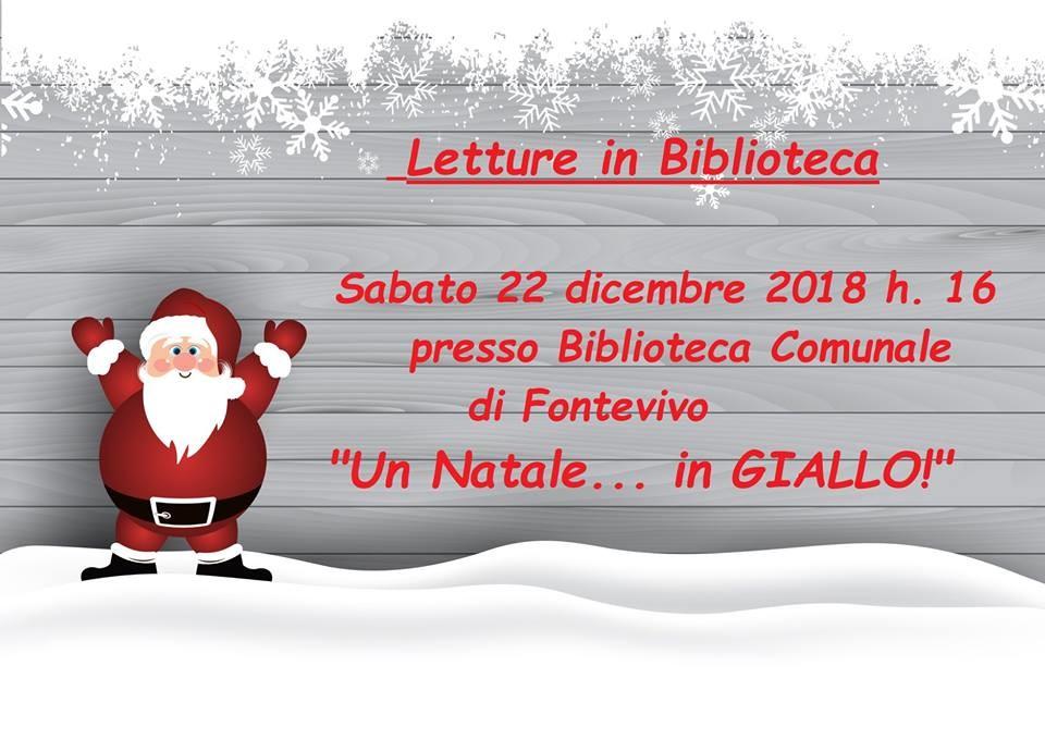 """""""Un Natale... in GIALLO!""""  alla Biblioteca Comunale """"Vanda Negri"""""""