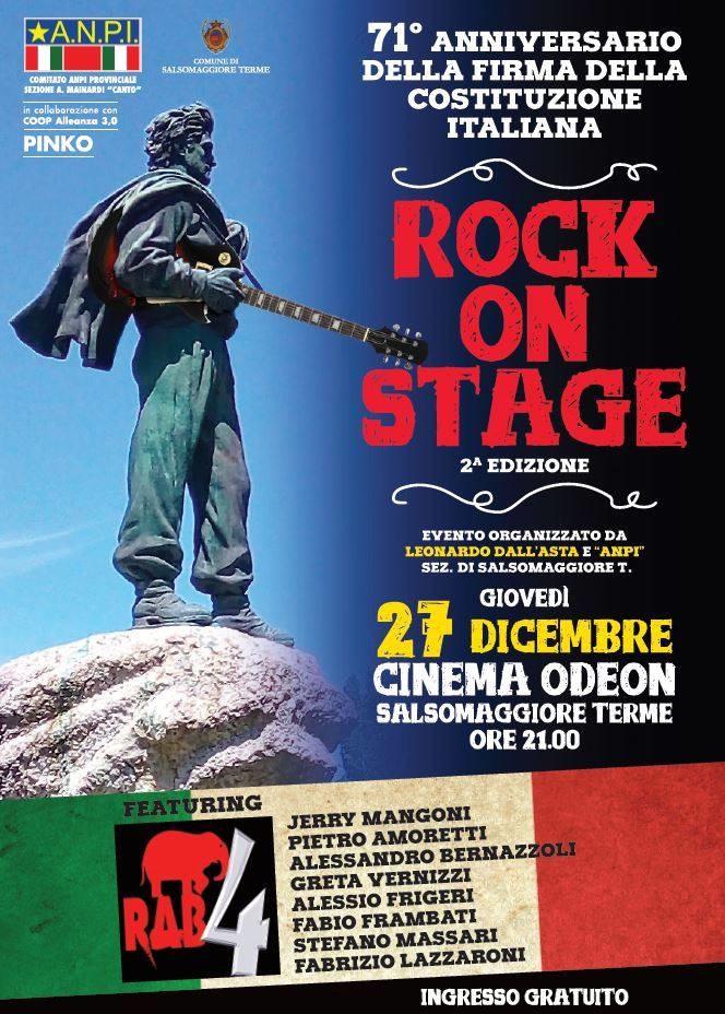 Rock on stage, la musica per ricordare il 71º anniversario della Costituzione
