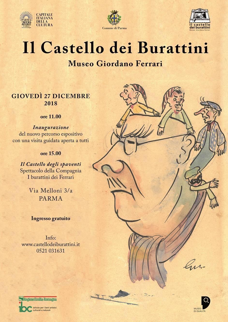 Riapertura Castello dei Burattini - Museo Giordano Ferrari