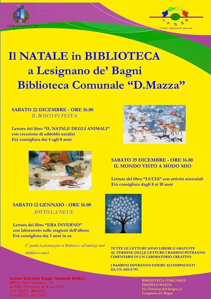 Natale in biblioteca a Lesignano