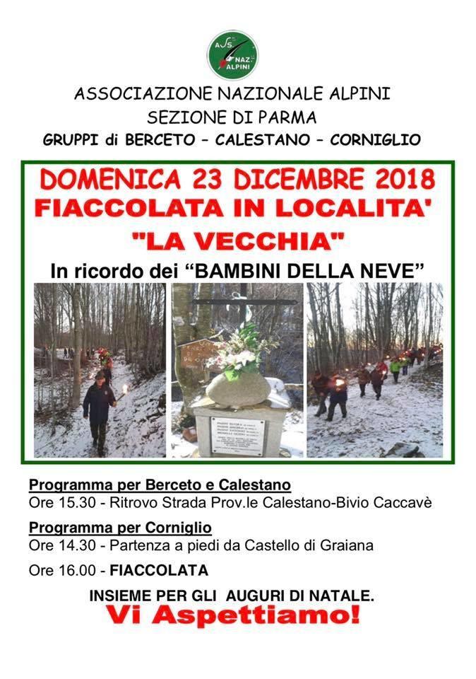 """Fiaccolata con il Gruppo Alpini in loc """"la Vecchia"""""""