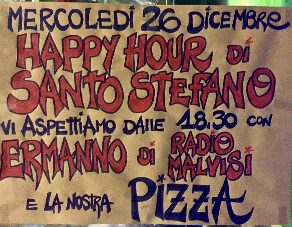 HAPPY HOUR di SANTO STEFANO con la musica di ERMANNO di RADIO MALVISI e la nostra PIZZA all'Osteria della Posta a Borghetto