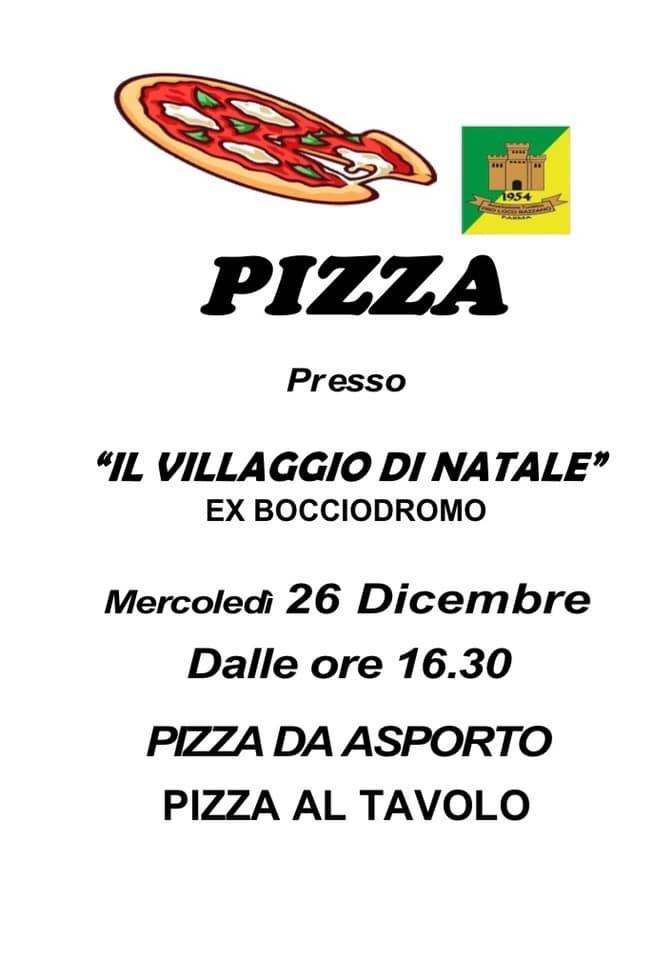 Pizza al villaggio di Natale a Bazzano