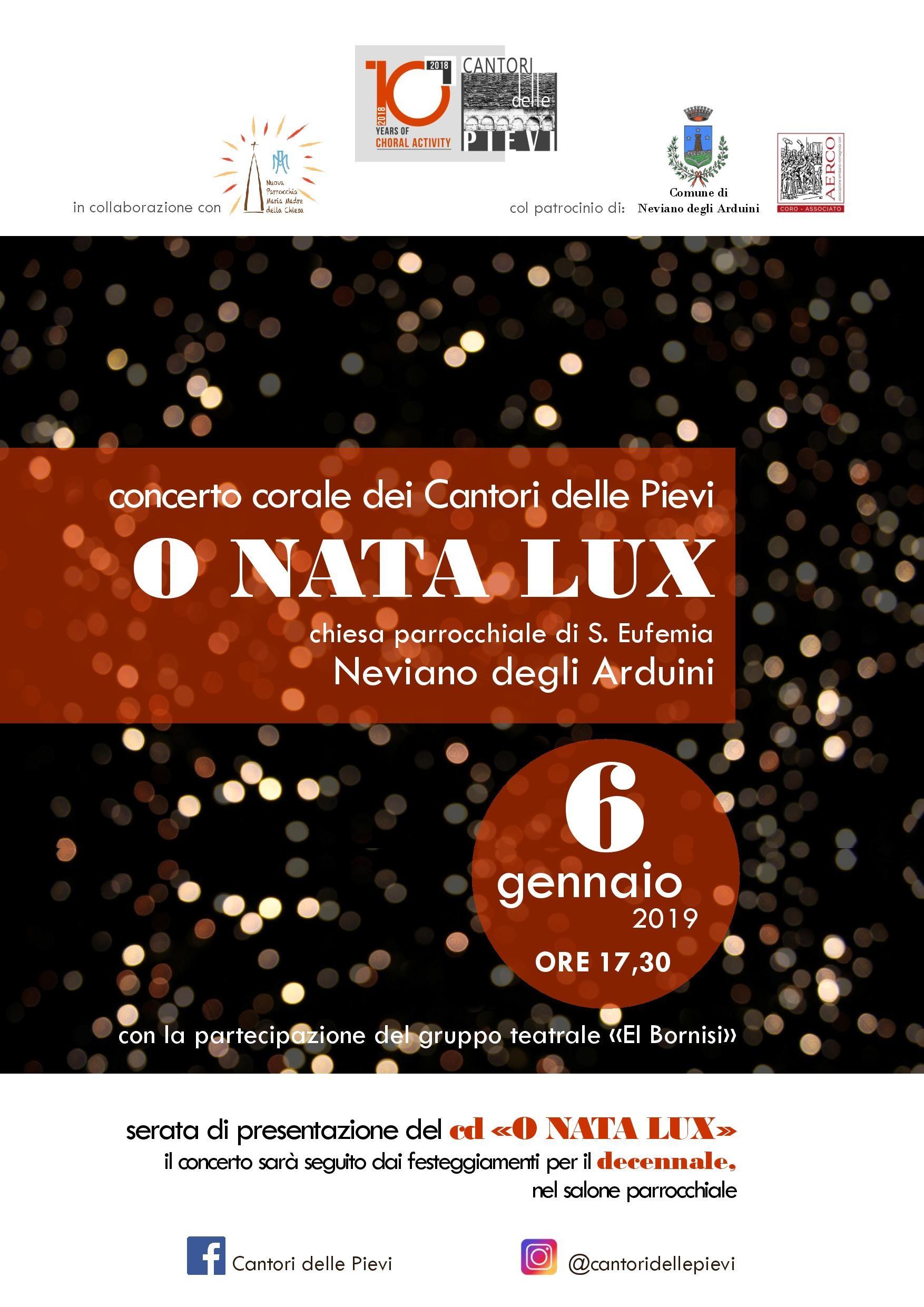 """""""CANTORI DELLE PIEVI"""" CONCERTO DI PRESENTAZIONE CD """"O NATA LUX"""" a Neviano"""