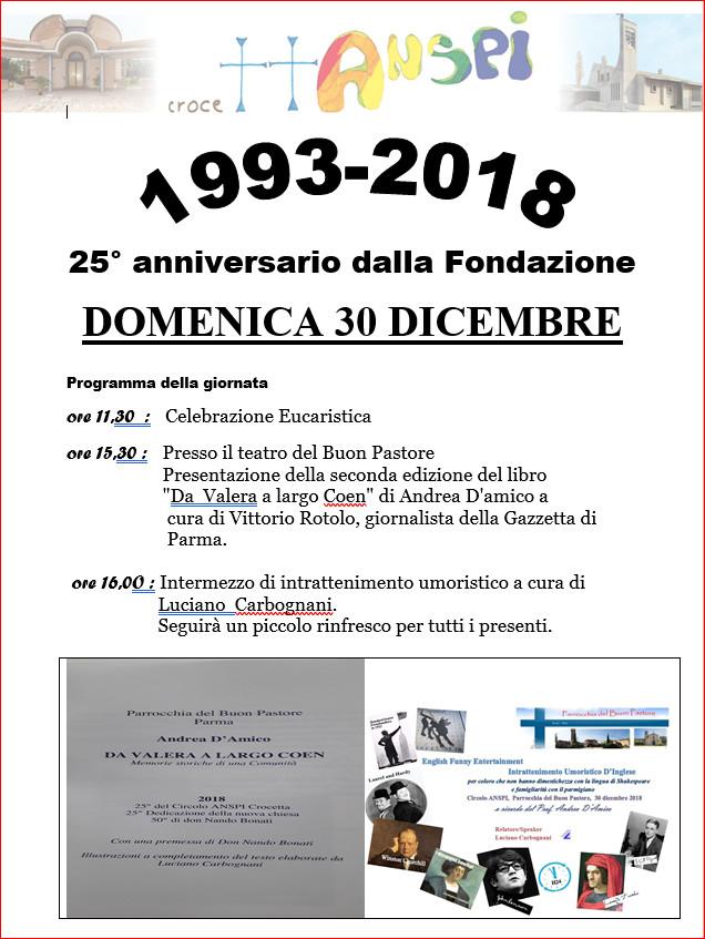1993-2018 25^ anniversario della Fondazione