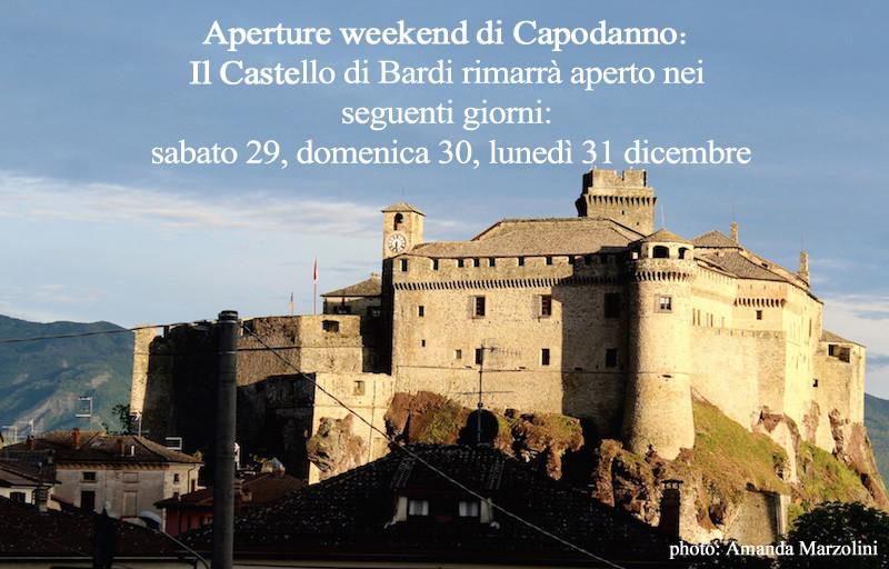 Aperture weekend di Capodanno: 29, 30, 31 dicembre del castello di Bardi