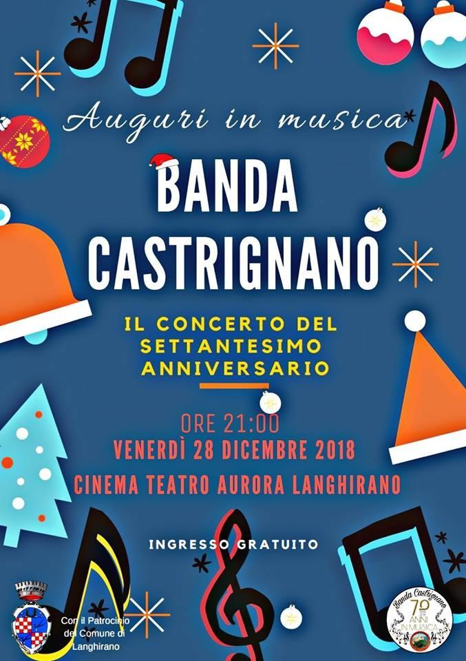 Auguri in musica con la Banda Castrignano